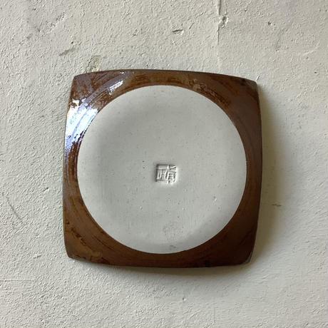 マカロンシリーズ 5寸正方皿 ルリ