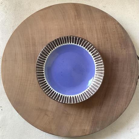 マカロンシリーズ 6寸皿 空色 1