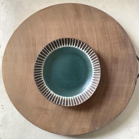 マカロンシリーズ 6寸皿 カーサグリーン  1