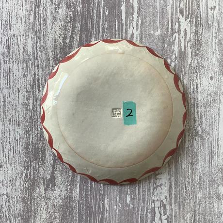 唐草シリーズ 7寸皿 赤唐草 2