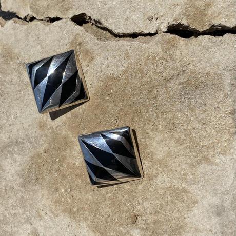Tribal Pattern Square Earring