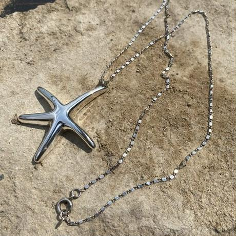 Solid Sterling Silver Starfish necklace