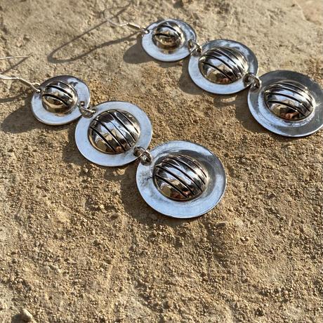 3 disk Sterling silver Pierce