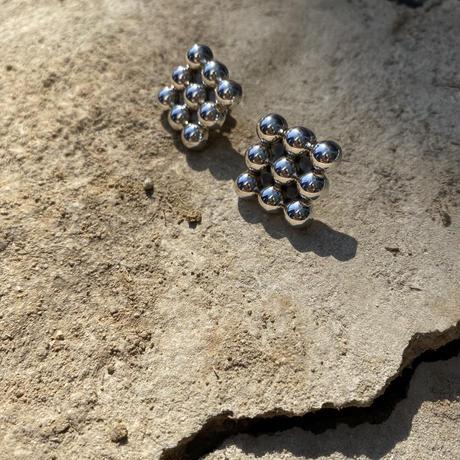 Square Dots silver pierce