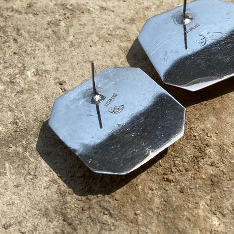 Rosequartz Stud silver pierce