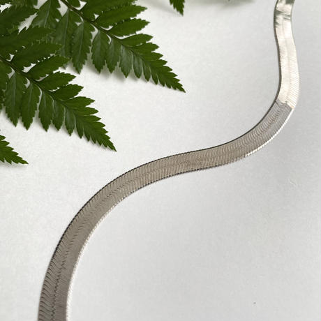 Snake Chain Necklace - wide