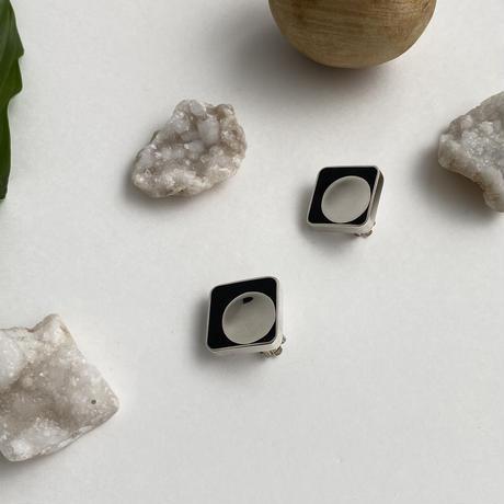 Square Onyx Earring