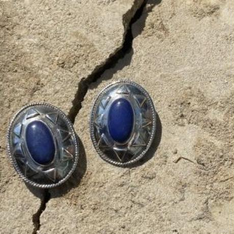 Southwestern Sterling Lapis silver earring