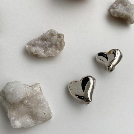 Onyx Heart Earring