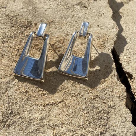 Trapezoid Swing Knocker silver pierce