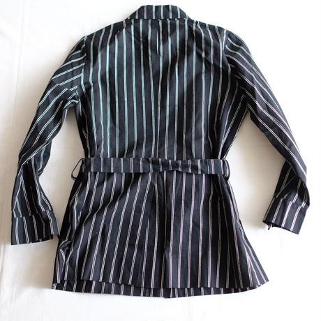 Marimekko 1976  black stripe shirt/jacket