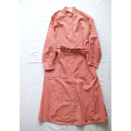 VUOKKO stand collar dress w/belt