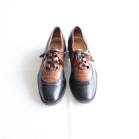 Italian 2 tone Lady's Ghillie shoes