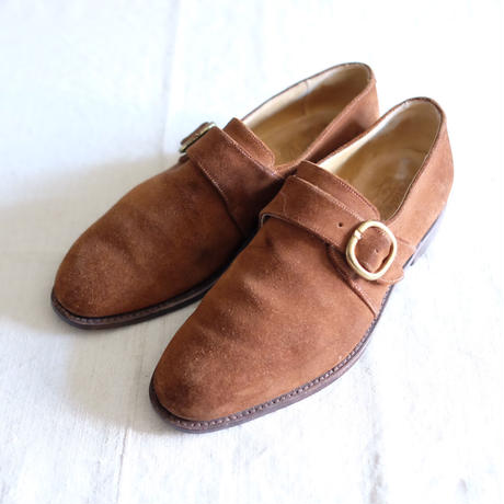 Paraboot suede monk strap shoes