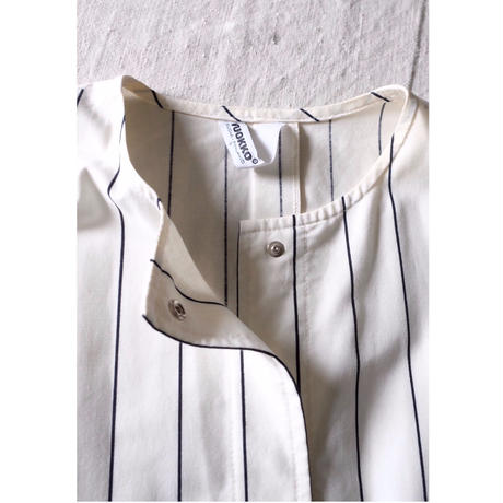 VUOKKO stripe collarless Jacket