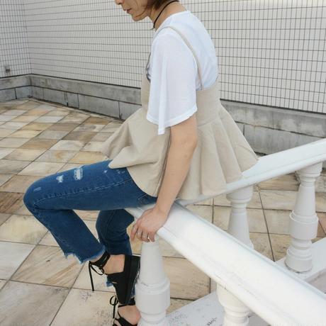 リネンビスチェ&Tシャツセット