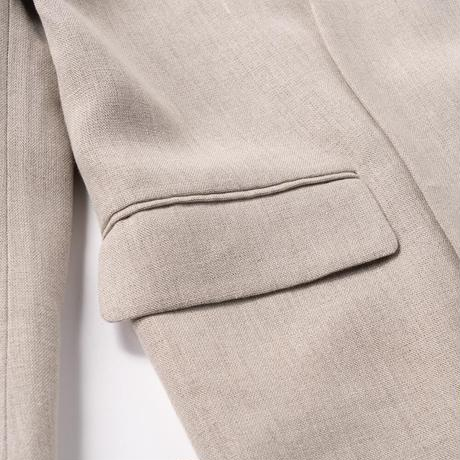 ATON /  Linen Oxford Nocollar Jacket
