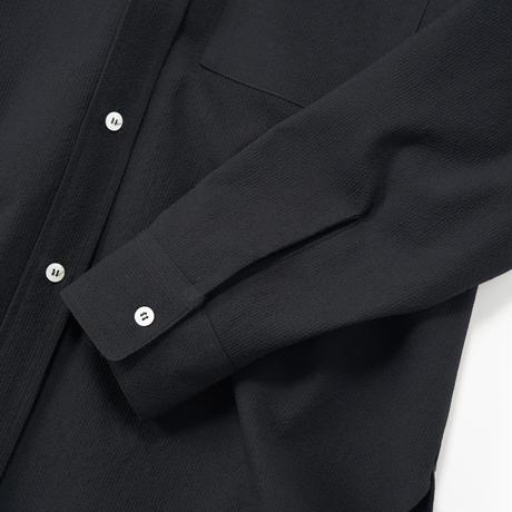 Cristaseya / Japanese Crape Wool Oversized Highcollor Shirt