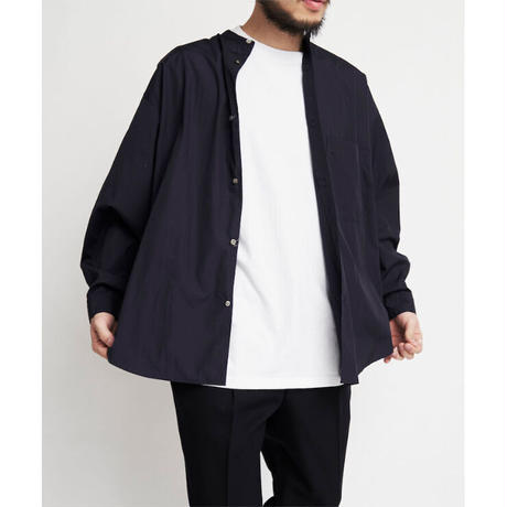 Graphpaper / Broad Oversized L/S Band Collar Shirt