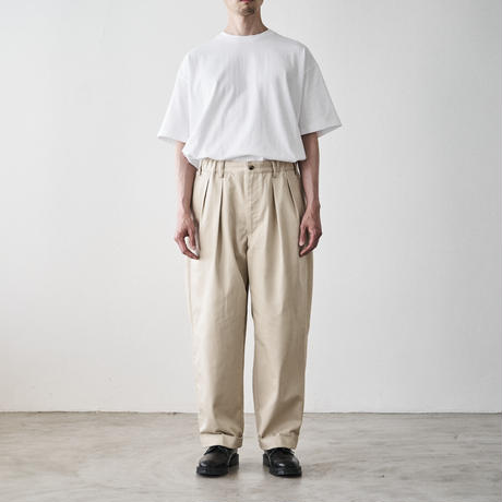 TapWater / Cotton Chino Tuck Trousers