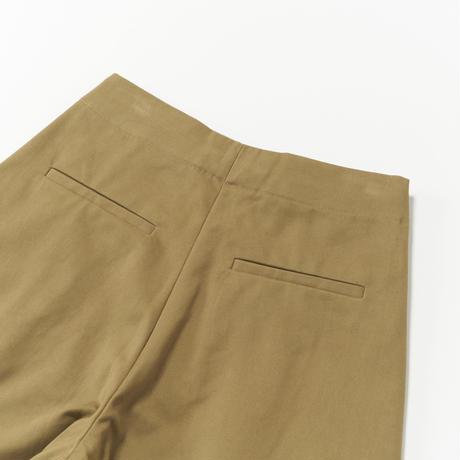 STUDIO NICHOLSON / PEACHED COTTON TWILL VOLUME PLEAT PANTS