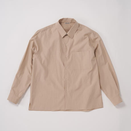 AURALEE / WASHED FINX TWILL BOX SHIRTS