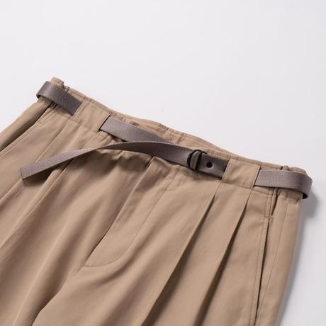 IRENISA/TWO TUCKS WIDE PANTS WITH BELT