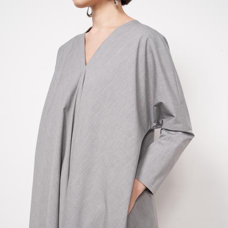ATON / Stretch Broad Draped Dress