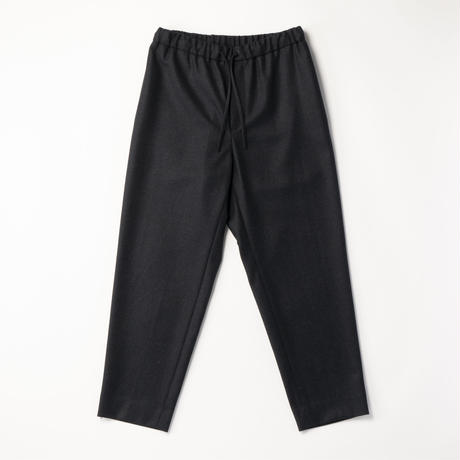ATON / WOOL FLANNEL EASY TAPERED PANTS