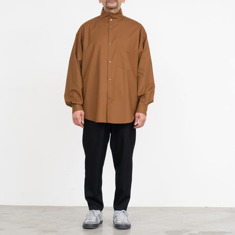 Graphpaper / Fine Wool Tropical Stand Collar Shirt