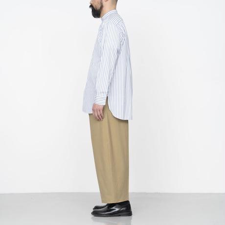 Cristaseya / JAPANESE STRIPED COTTON MAO SHIRT