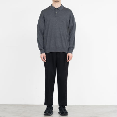 Graphpaper / High Gauge Knit Oversized L/S Polo