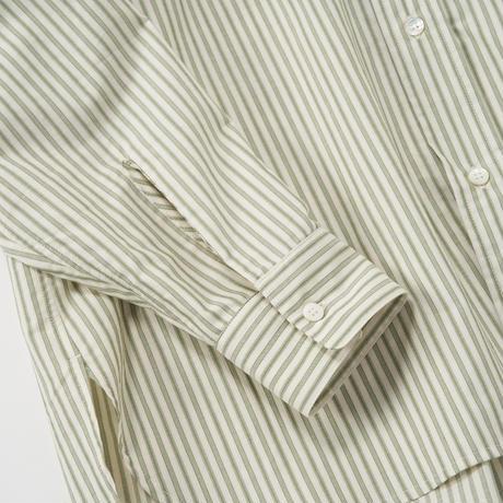 Cristaseya/Striped cotton High collor Mao shirt