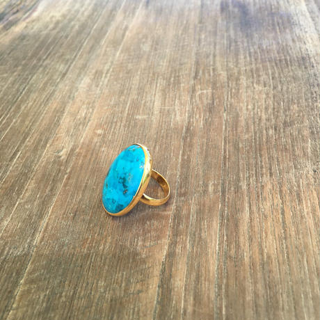Arizona Turquoise Gold Ring