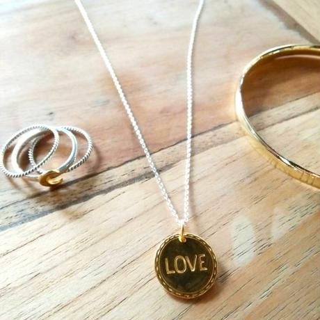 Love Disk Necklace / (silver or gold plated)