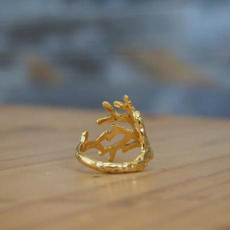 Coral Wrap Ring ( Gold Plated)