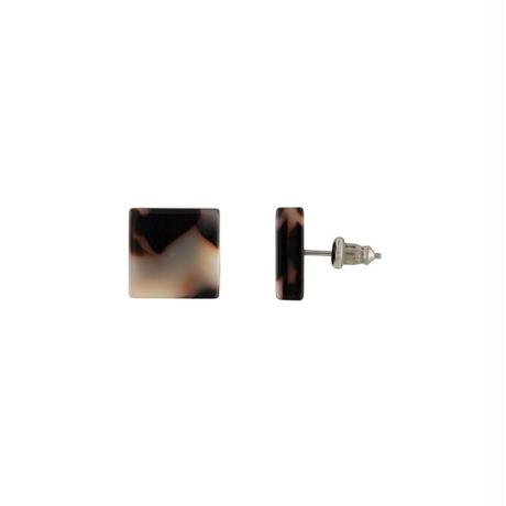 Block Earrings in Ash Blonde Tortoise