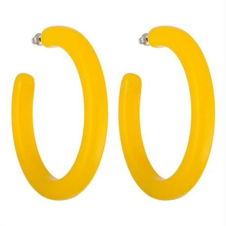 Grande Hoops in Yellow