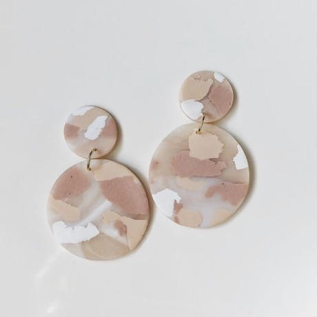 Blush Terrazzo Paloma Earrings
