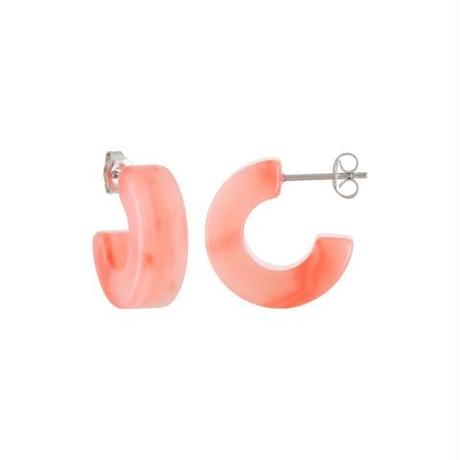 Muse Hoops in Bright Pink