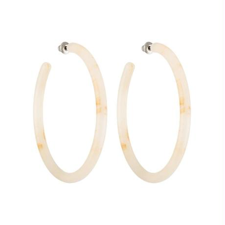 Large Hoops in Peach