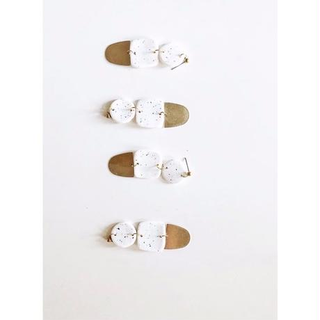 Speckled White Solange Earrings