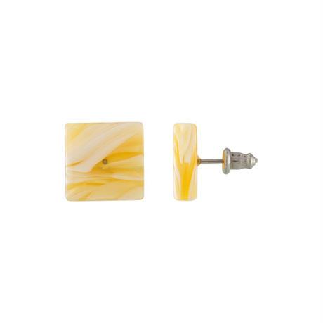 Block Earrings in Jaune Yellow