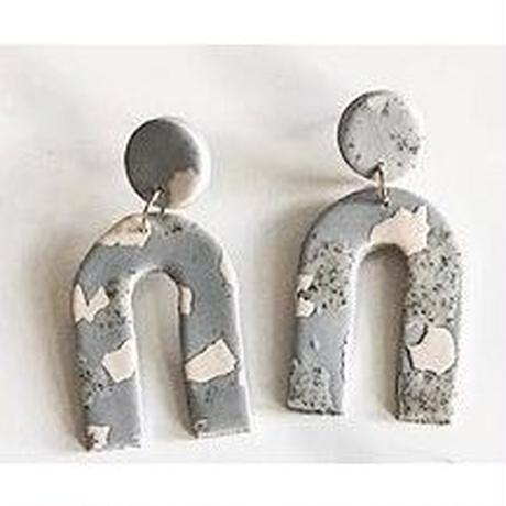 Fog Terrazzo  Arc Earrings