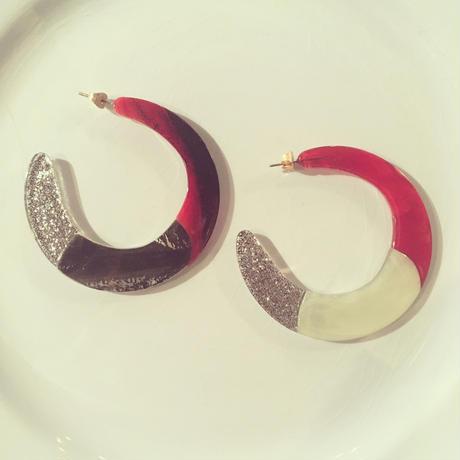Saturn Hoop Earrings