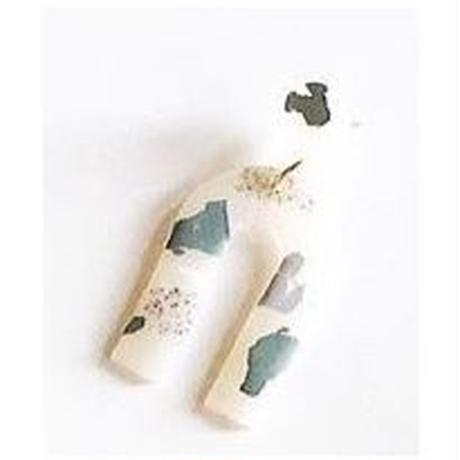 Sage Terrazzo Arc Earrings