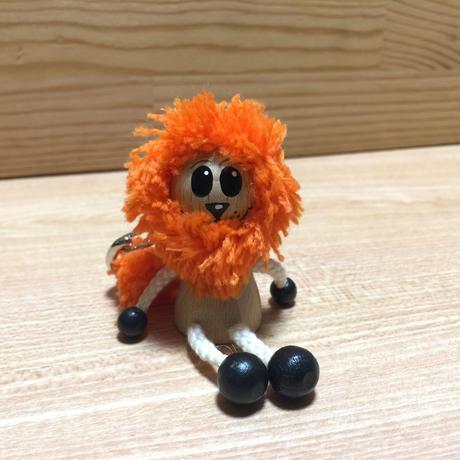 キーホルダー    ミニ人形ライオン