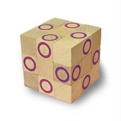 木製キューブ型パズル【コブラBIG/バイオレット】
