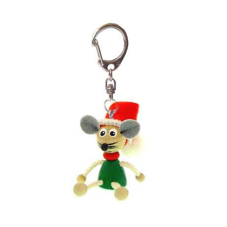 キーホルダー人形 クリスマスマウス