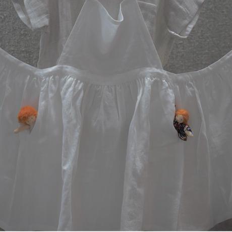 Nils / ホワイトリネンエプロン巻きスカート
